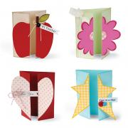 Apple, Heart & Star Gatefold Cards