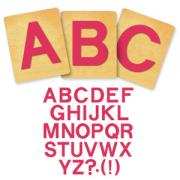 Ellison SureCut Die Set - Block Alphabet, Capital Letters - 4 Inch