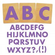 Ellison SureCut Die Set - Fruit Smoothie Alphabet, Capital Letters - 4 Inch