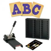 Prestige SpaceSaver Starter Set w/SureCut Circus Shadow Capital Letters - 4 Inch