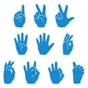 Ellison SureCut Die Set - Sign Language Numbers - 5 Inch