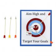 Aim High and Target Your Goals Poster