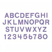 "Sizzix Bigz Alphabet Set 9 Dies - Block 1 1/2"" Capital Letters & Numbers"