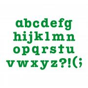 "Sizzix Bigz Alphabet Set 7 Dies - AllStar 1 1/2"" Lowercase Letters & Punctuation"