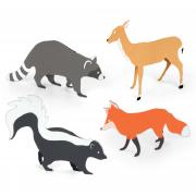 Sizzix Bigz Die Set - 3-D Forest Animals (4 Die Set)