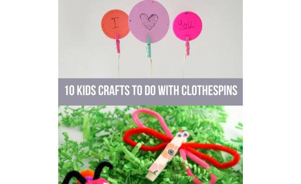 10 Kids Crafts To Do With Clothespins