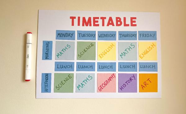 At Home School Timetable
