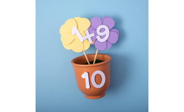 Number Bonds Plant Pot