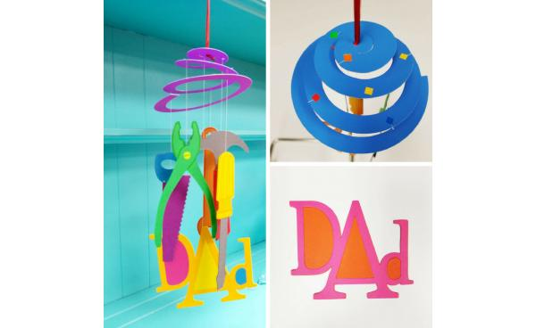 You Can Make This Dad-tastic Mobile In A Few Easy Steps!